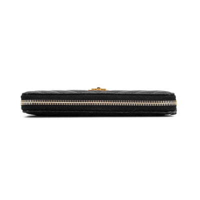 Chanel Reissue Full Size Zip Wallet Black