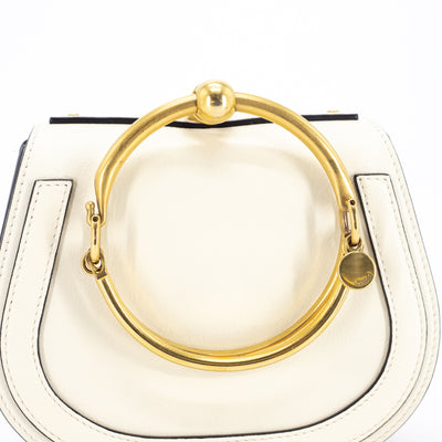 Chloe Small Nile Top Handle/Crossbody Bag Cream
