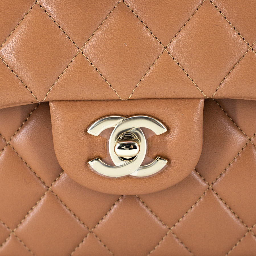 Chanel Quilted Small Classic Flap Caramel