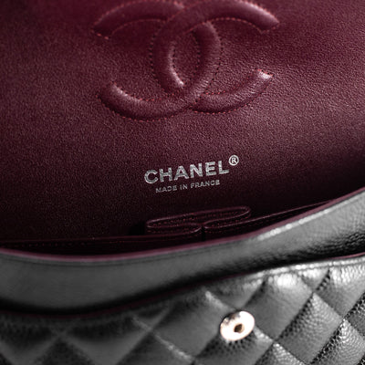 Chanel Quilted Caviar Medium/Large Classic Flap Black