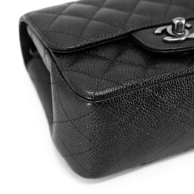 Chanel Quilted Caviar Square Mini Charcoal