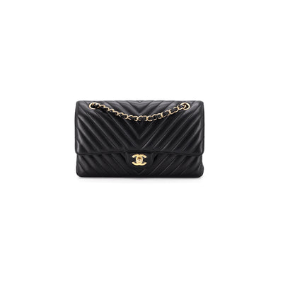 Chanel Chevron Medium/Large Classic Flap Black