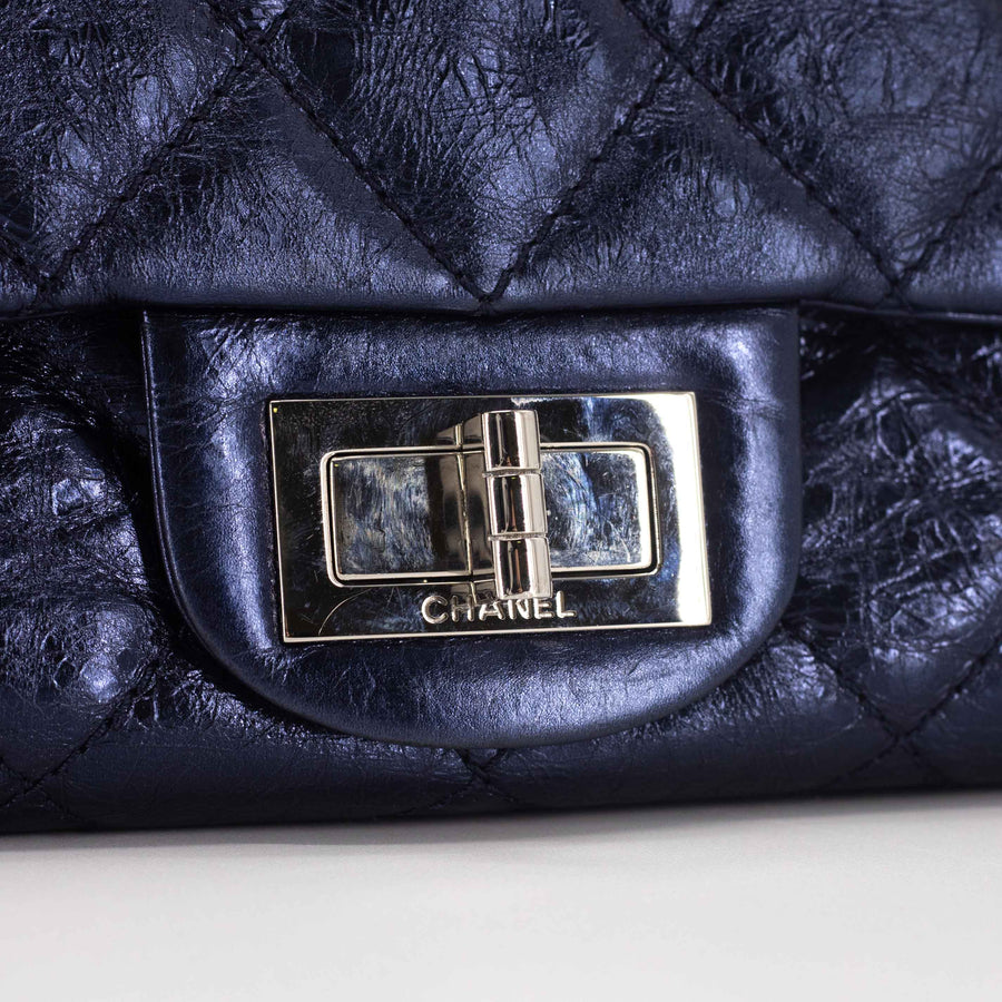 Chanel Reissue 228 Metallic Blue