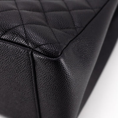 Chanel Quilted Caviar Grand Shopping Tote GST Black