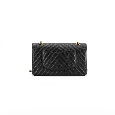 Chanel Chevron Medium/Large Classic Flap Charcoal