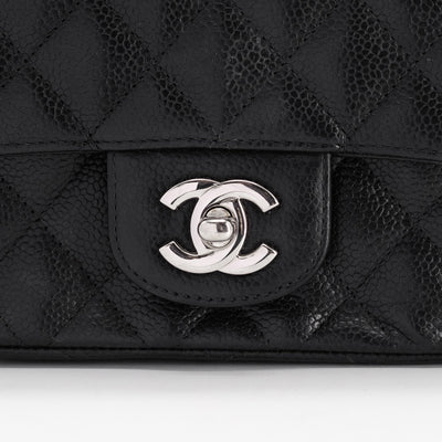 Chanel Caviar Square Mini Black