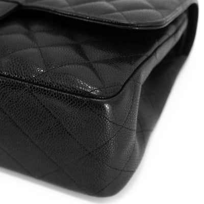 Chanel Quilted Caviar Jumbo Classic Double Flap Black