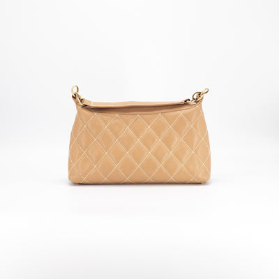 Chanel Quilted Calfskin Shoulder Bag Beige