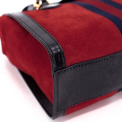 Gucci Suede Ophidia Bag Red