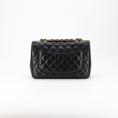 Chanel Quilted Caviar Single Flap Jumbo Black