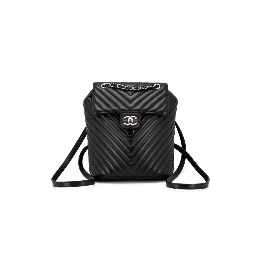 d51d16c4567d49 Chanel Chevron Calfskin Urban Spirit Backpack Small