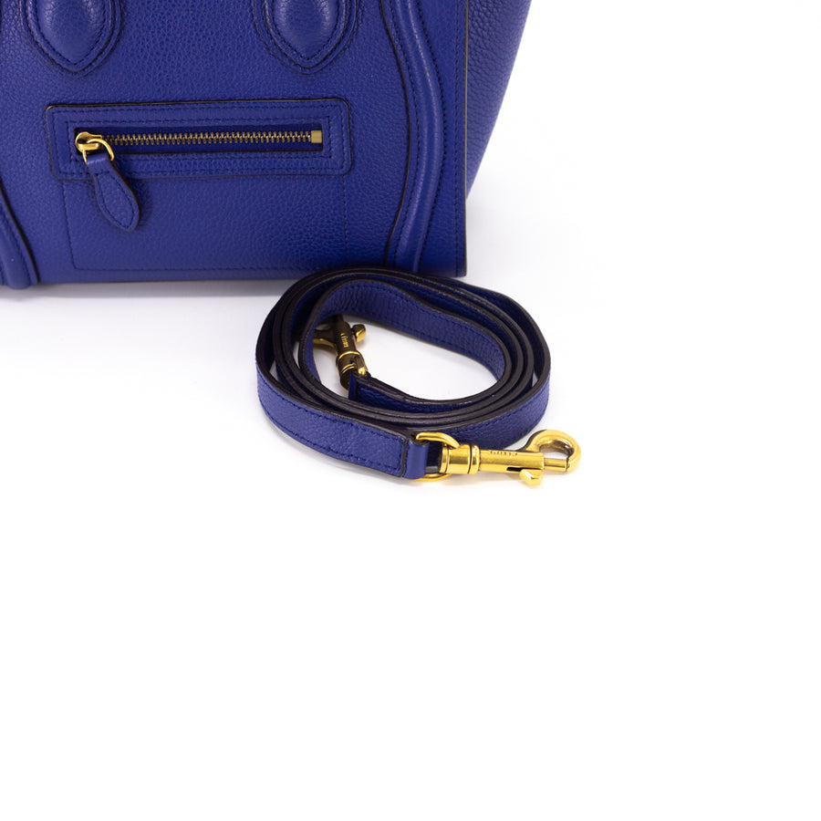 Celine Nano Luggage Bag Blue