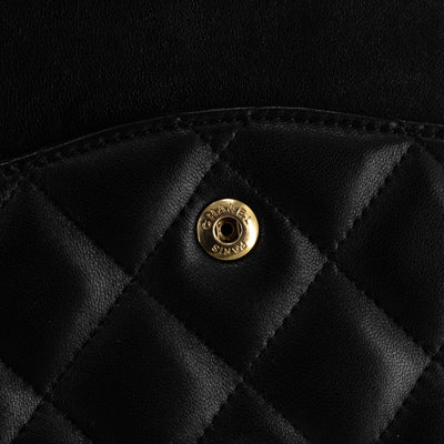 Chanel Quilted Lambskin Jumbo Classic Double Flap Black