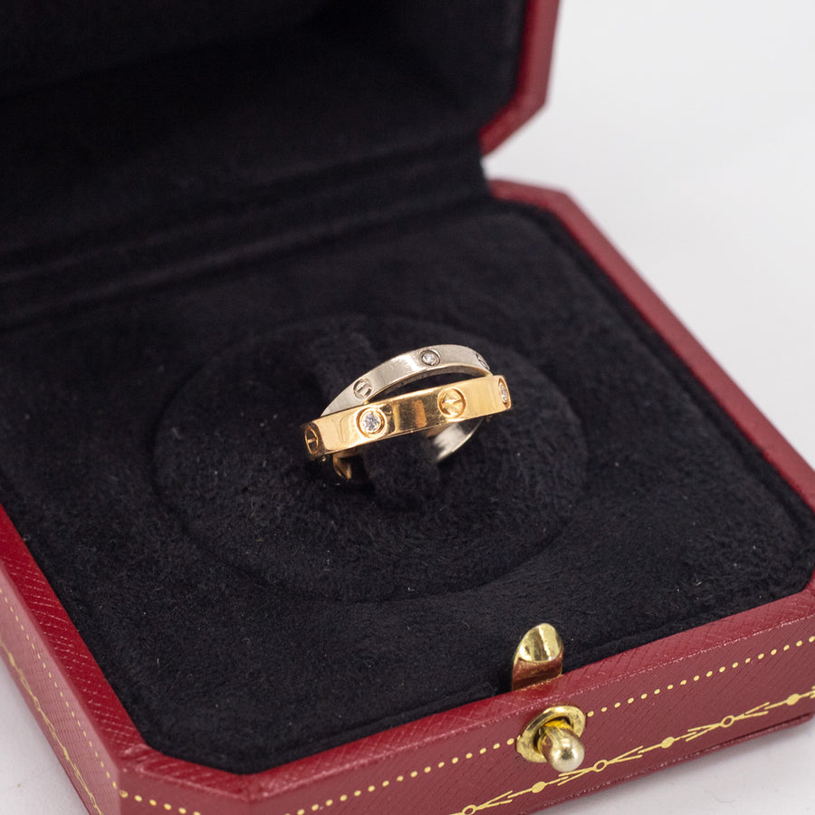Cartier Love Ring Size 46 Gold/Silver