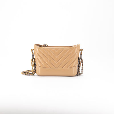 Chanel Chevron Small Gabrielle Hobo Caramel