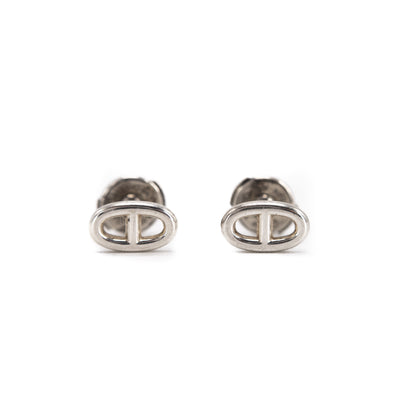 Hermes Chaine D'ancre Sterling Silver Earrings