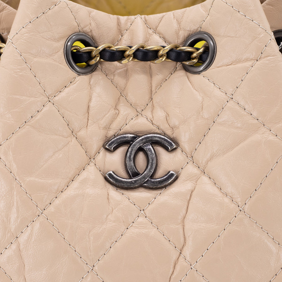 Chanel Gabrielle Small Backpack Bag Black/Beige