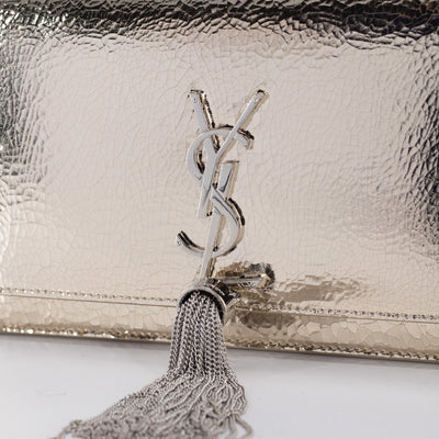 Saint Laurent Kate WOC Wallet On Chain Metallic Gold