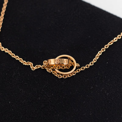 Cartier Love Necklace Pink Gold