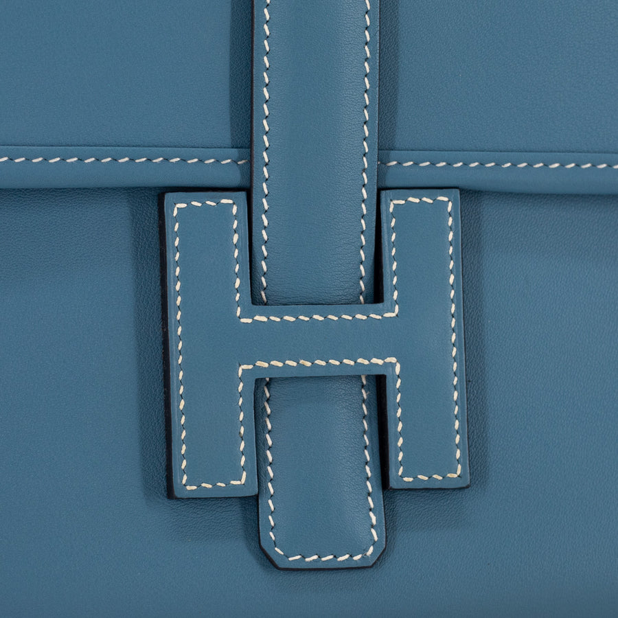 Hermes Jige Clutch 29 Light Blue - X Stamp