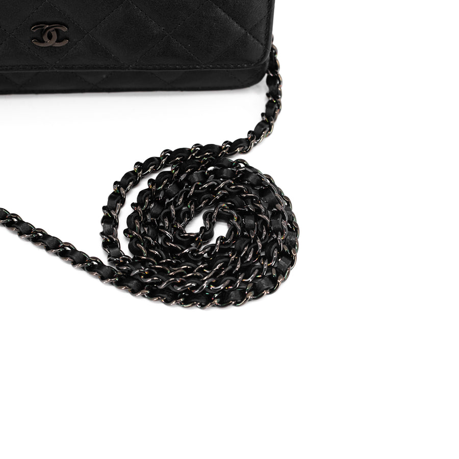 Chanel Quilted WOC Wallet On Chain So Black