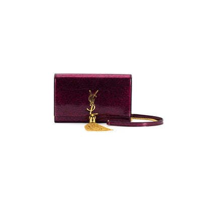 Saint Laurent Kate WOC Wallet On Chain Red