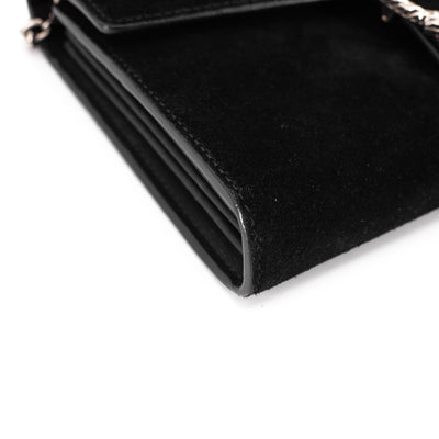 Gucci Dionysus Wallet On Chain WOC Suede Black