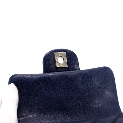 Chanel Quilted Caviar Square Mini Navy