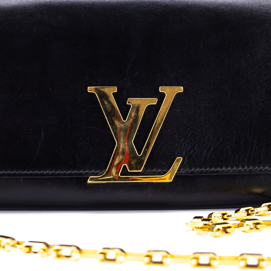 Louis Vuitton GM Louise Clutch Shoulder Bag Black