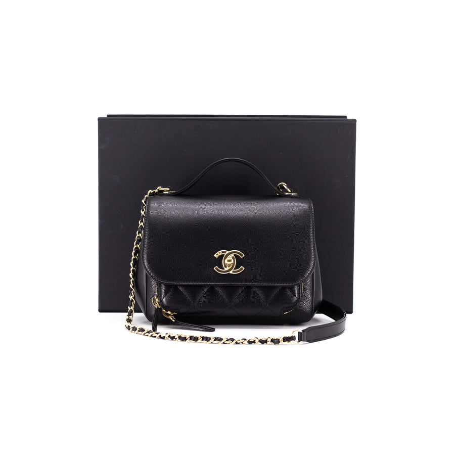 Chanel Small Quilted Caviar Business Affinity Black