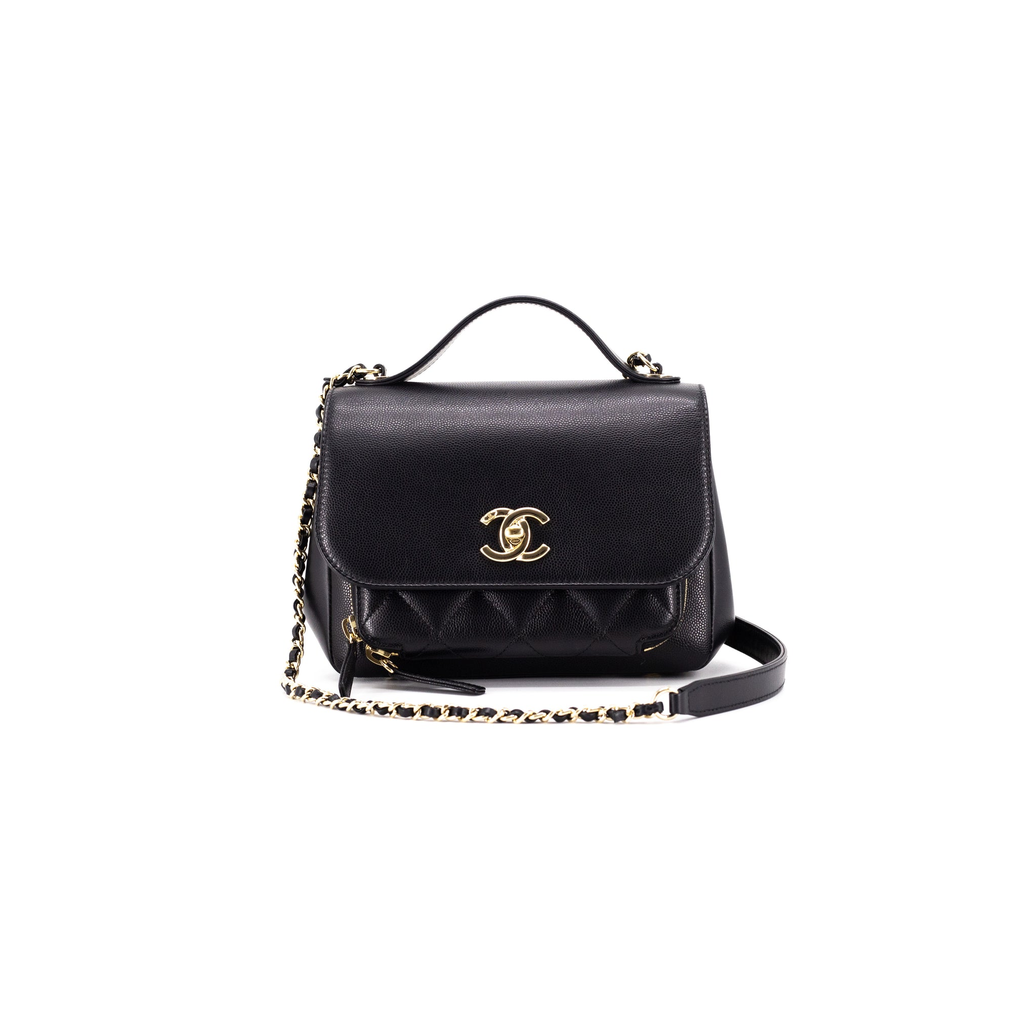 d13cf064edc9 Chanel Small Quilted Caviar Business Affinity Black - THE PURSE AFFAIR
