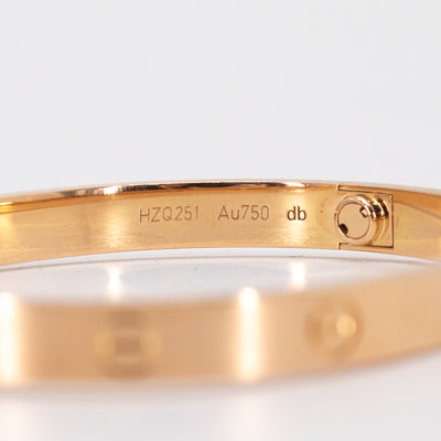 Cartier Love Bangle Pink/Rose Gold 18 2019