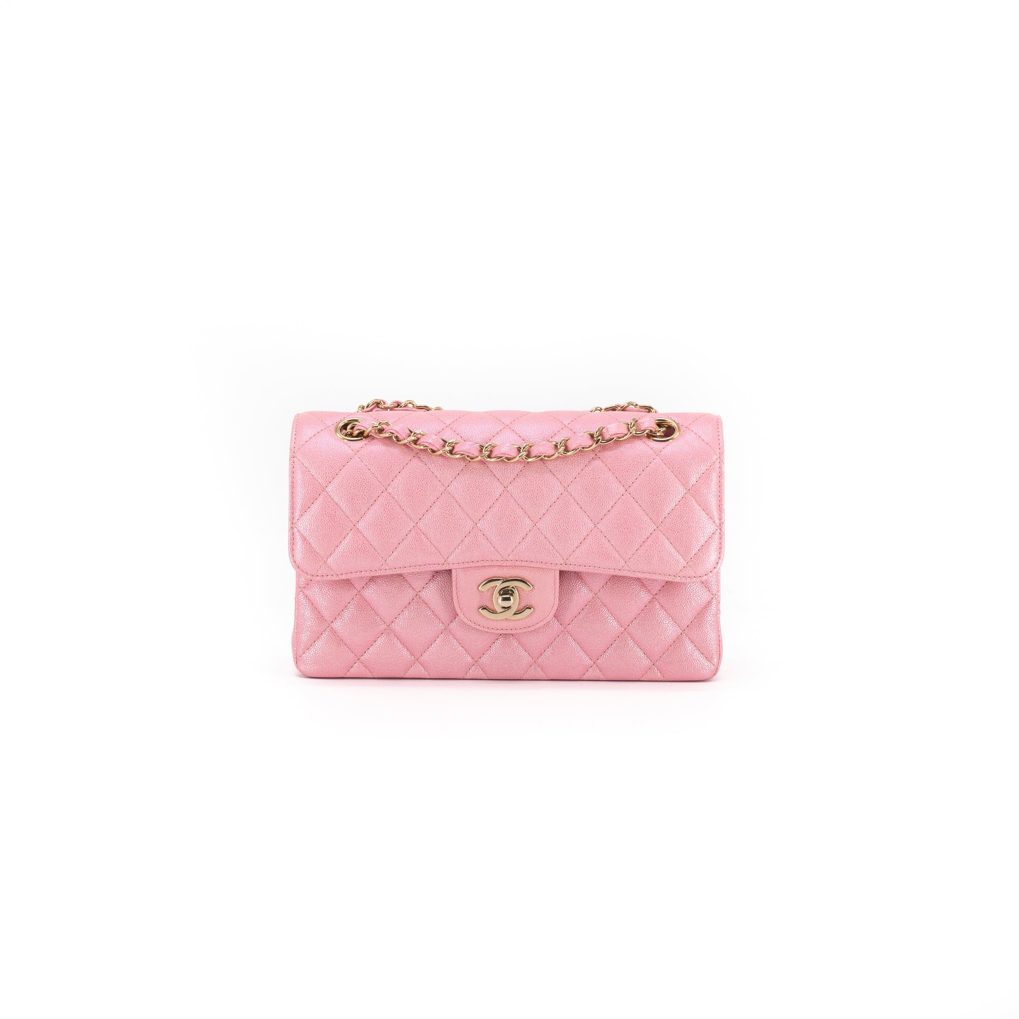 31865ecda891 Chanel 19S Iridescent Pink Small Classic Flap - THE PURSE AFFAIR
