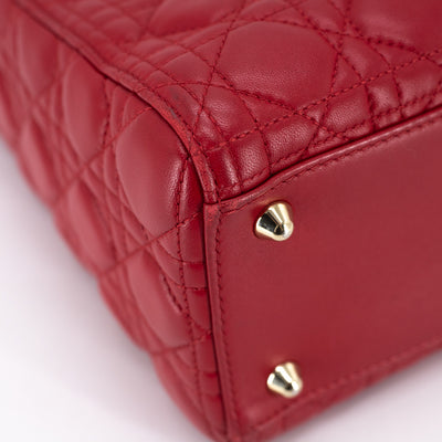 Dior Lambskin Lady Dior Large Red
