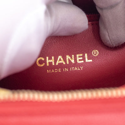 Chanel Vanity Case Red