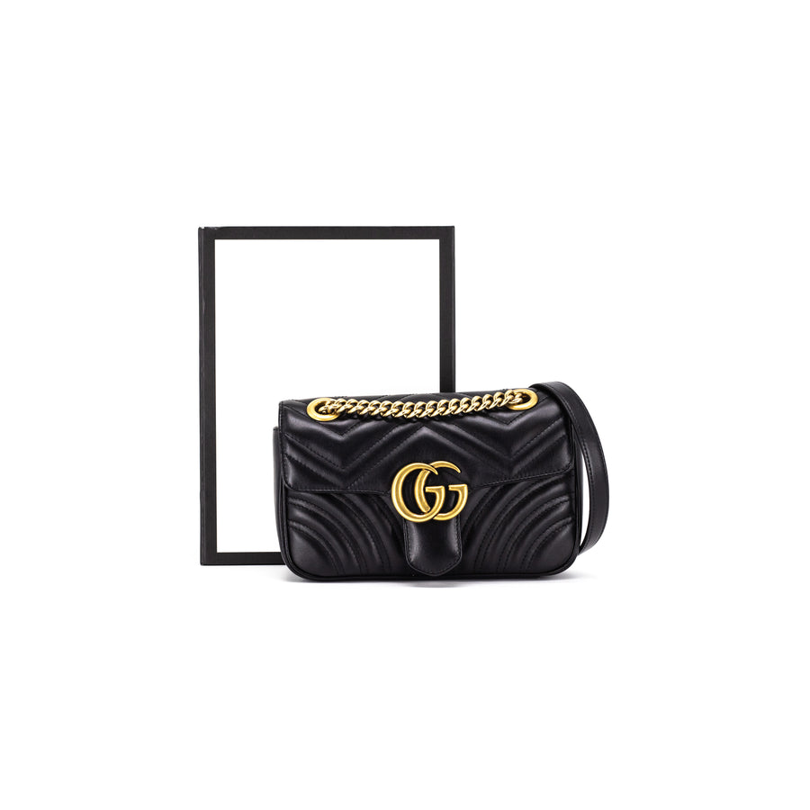 Gucci Black Marmont Black Mini Bag
