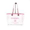 CHANEL Small Deauville Tote Pink Cream