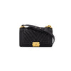 Chanel Caviar Chevron Old Medium Boy Black