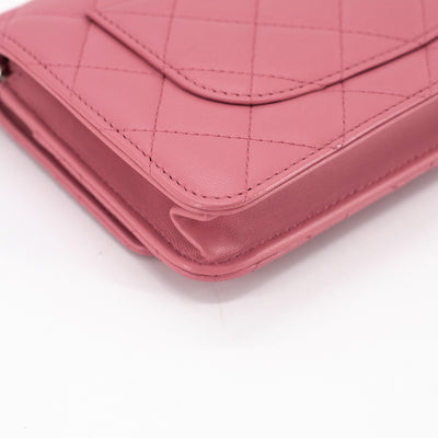 Chanel Quilted WOC Wallet On Chain Pink