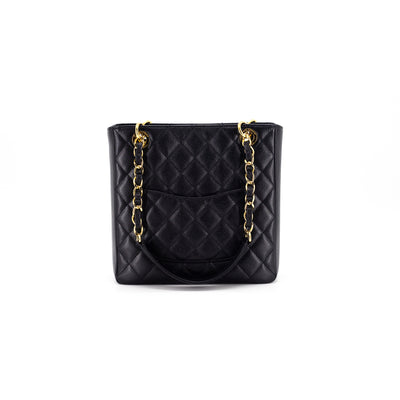 Chanel Quilted Caviar Petite Shopping Bag PST Black