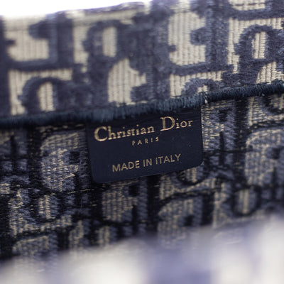 Dior Book Tote Navy Oblique