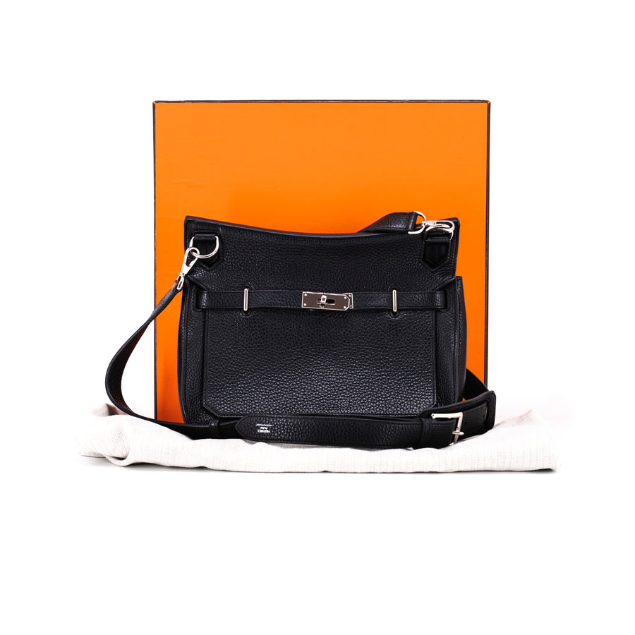 Hermes Small Jypsiere 28 Taurillon Clemence Black