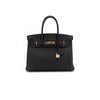 Hermes Birkin 30 Togo Black Rose Gold - D stamp 2019