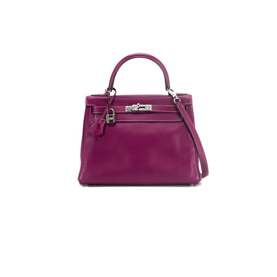 Hermes Kelly 28 Epsom Tosca Verso with Rose Tyrien interior (special Candy release with contrasting white stitching)