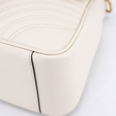 Gucci GG Marmont Small Top Handle Bag Off White