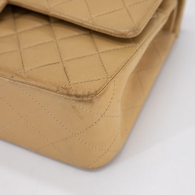 Chanel Quilted Lambskin Medium/Large Classic Flap Beige