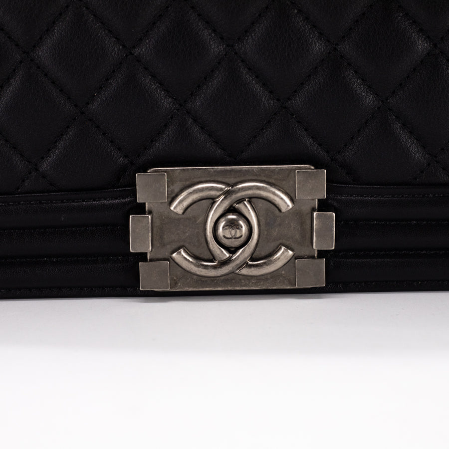 Chanel Quilted Old Medium Black
