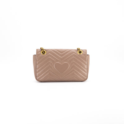 Gucci Marmont Small Matelassé Shoulder Bag Dusty Pink
