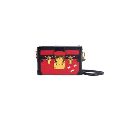 LOUIS VUITTON PETITE MALLE CLUTCH RED