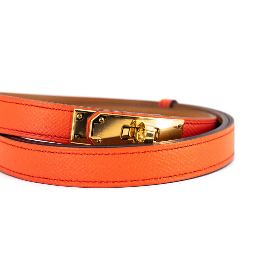 Hermes Belt Epsom Capucines/Gold Adjustable